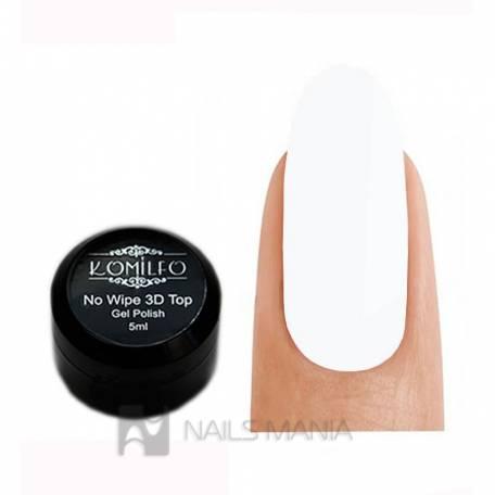 Купить Tоп для объемных дизайнов Komilfo 3D Top Gel No Wipe (без кисточки), 5 мл