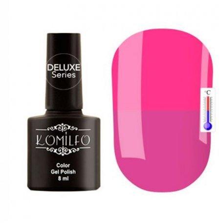 """Гель-лаки Komilfo """"Deluxe Termo"""" (Делюкс Термо) 8 мл - Гель-лак Komilfo DeLuxe Termo №C010 (сиренево-розовый, при нагревании — розовый), 8 мл"""