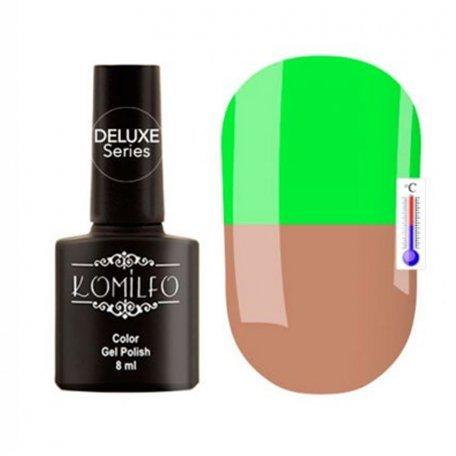 """Гель-лаки Komilfo """"Deluxe Termo"""" (Делюкс Термо) 8 мл - Гель-лак Komilfo DeLuxe Termo №C003 (светло-коричневый, при нагревании — яркий салатовый), 8 мл"""