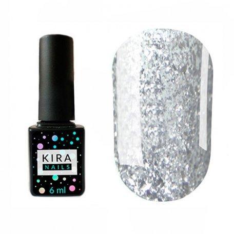 Гель-лаки Kira Nails Shine Bright 6 мл - Гель-лак Kira Nails Shine Bright №001 (серебро с блестками), 6 мл