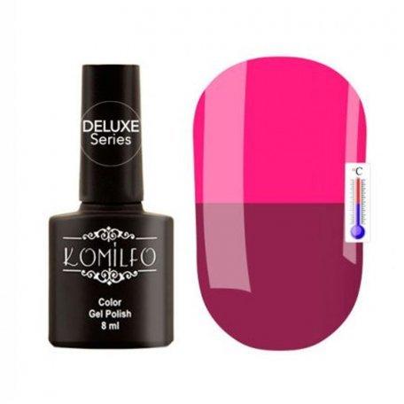 """Гель-лаки Komilfo """"Deluxe Termo"""" (Делюкс Термо) 8 мл - Гель-лак Komilfo DeLuxe Termo №C007 (розовый, при нагревании -приглушенный, темно-розовый), 8 мл"""