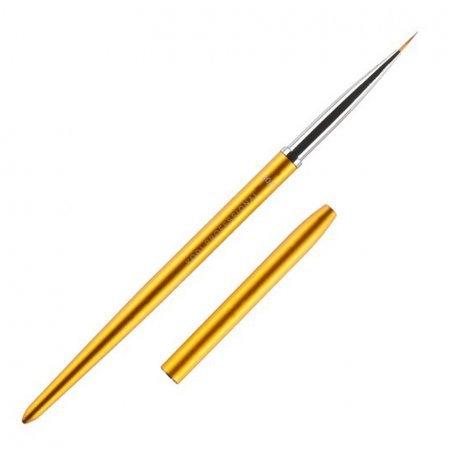 Кисть для росписи в тубусе №00/3 Kodi (нейлон; ручка: метал, акрил, цвет: ЗОЛОТО)