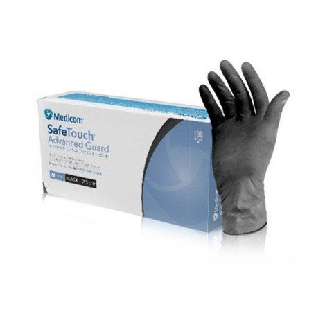 Перчатки нитриловые Medicom Safe Touch Advanced Black S7 100 шт
