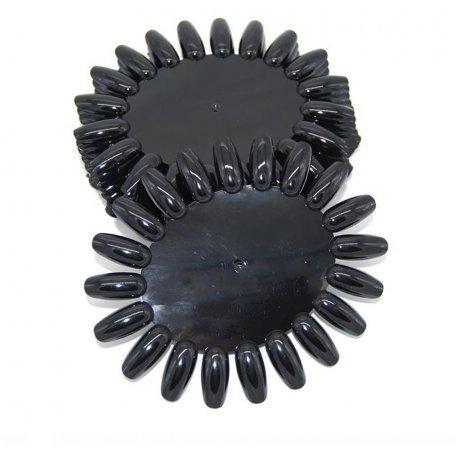 Палитры для лаков и гель-лаков - Палитра-ромашка черная