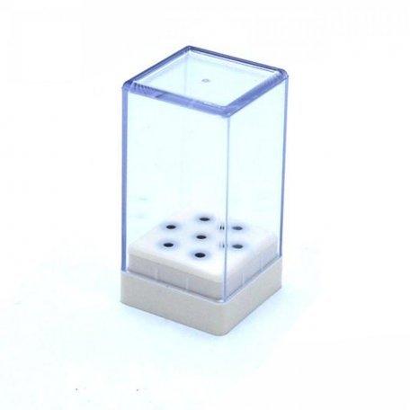 Аксессуары для маникюра и педикюра - Подставка коробка для фрез (маленькая)