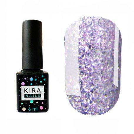 Гель-лаки Kira Nails Shine Bright 6 мл - Гель-лак Kira Nails Shine Bright №009 (сиреневый с блестками), 6 мл