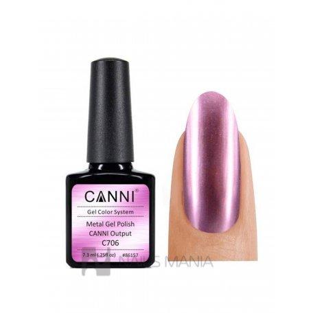 Купить Гель-лак зеркальный CANNI №706 розовый 7.3 мл.