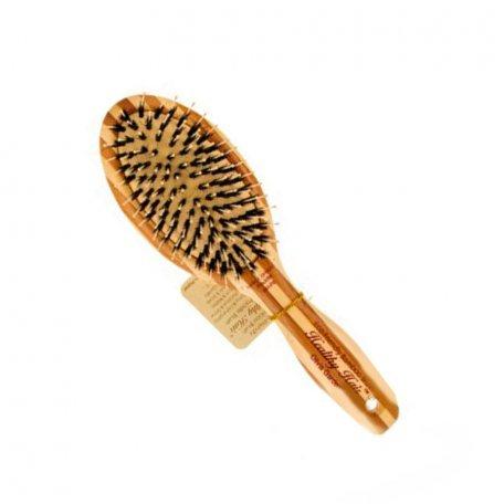 Массажные щетки - Olivia Garden щетка для волос бамбуковая овальная с комбинированной щетиной
