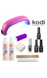 Стартовий набір гель лаків Kodi (c Mini-LED лампою)
