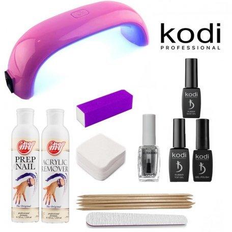 Стартовый набор гель лаков Kodi (c Mini-LED лампой)