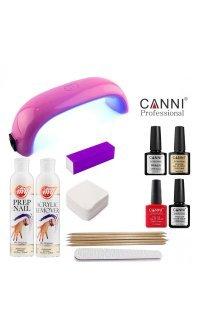 Стартовий набір гель-лаків Canni ( з Mini LED лампою)