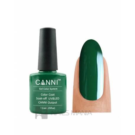 Купить Гель-лак CANNI №134 (темно-зеленый, эмаль), 7.3 мл