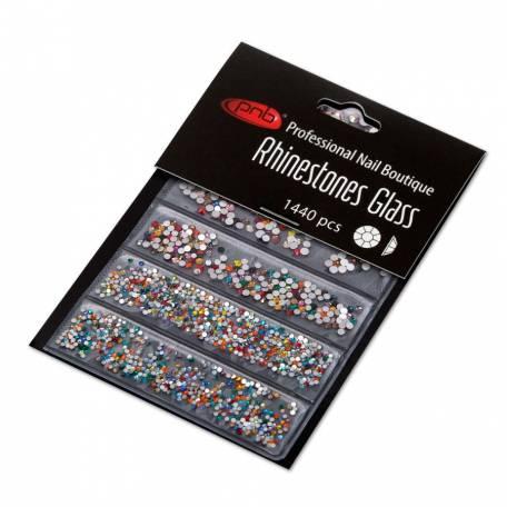 Купить Стразы для дизайна ногтей PNB, Colorful mix size 1440 шт