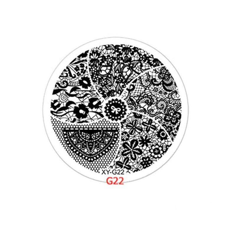 Диск для стемпинга Y.R.E XY-G22, пластик