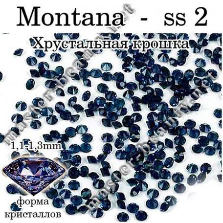 Хрустальная крошка - аналог Crystal Pixie - Хрустальная крошка - Pixie Montana- ss 2 - 100 шт.