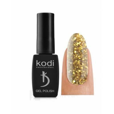 Гель-лак Kodi №130 SH (Золотистые блестки с мелким синим шиммером), 8 ml