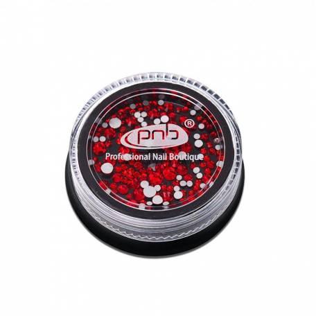 Купить Стразы для дизайна ногтей PNB, Red mix size 200 шт