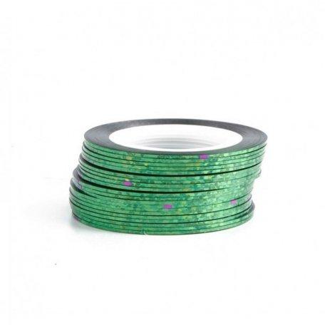 Лента для ногтей - Лента-скотч для дизайна ногтей - AURORA Green Light - 1mm