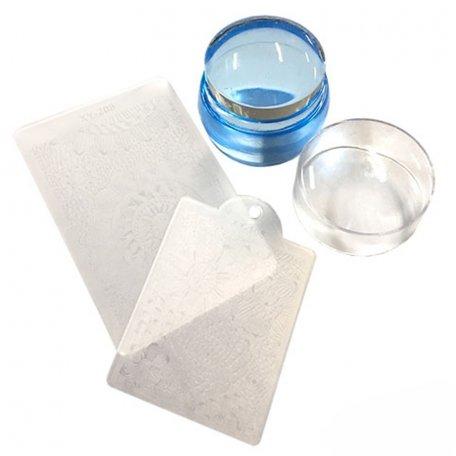Инструменты для стемпинга - Печать силиконовая с трафаретом круглая
