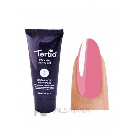 Полигель Tertio №03 milk pink, 30 мл