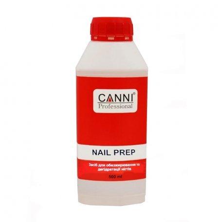 Обезжириватели, дегидраторы, праймеры - Средство для обезжиривания и дегидратации ногтей Canni, Nail prep, 500 мл