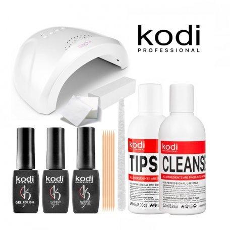 Стартовый набор гель-лаков Kodi (с LED+UV лампой SUN One 48W)
