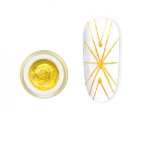 Гель-паутинка Canni Spider Gel / 3D Embossing gel - 03 золото 8 мл