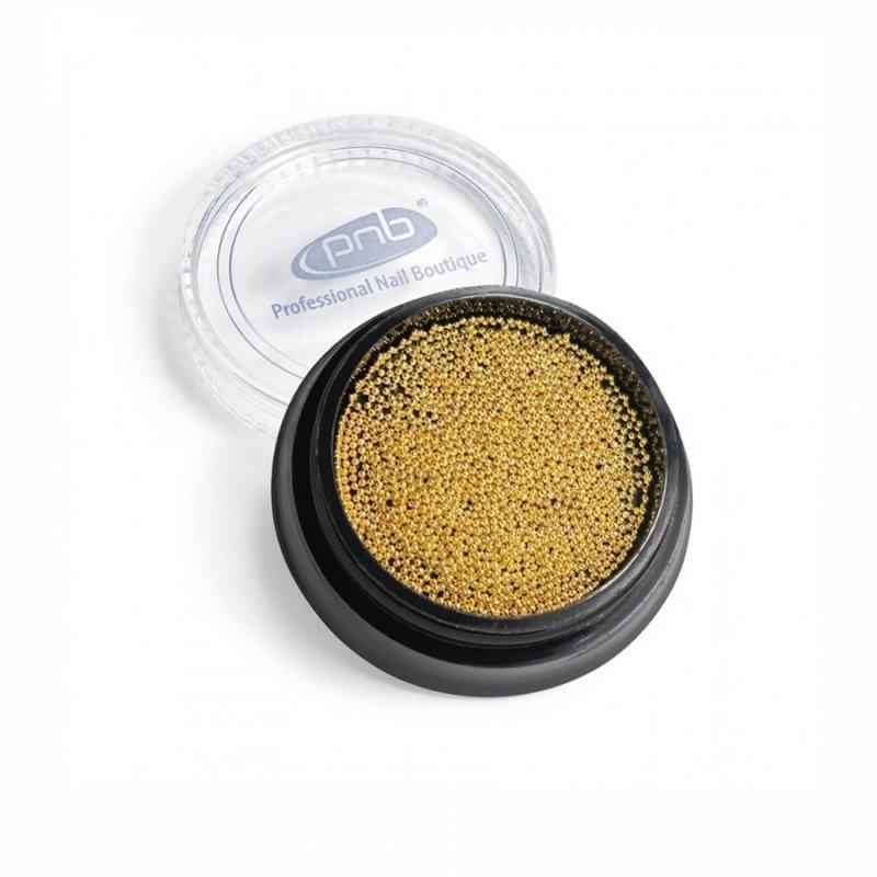 Бульонки металлические (золотые) 0.6 мм PNB, 4 г