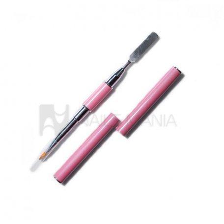 Кисть + шпатель 2в1 Y.R.E (розовый)
