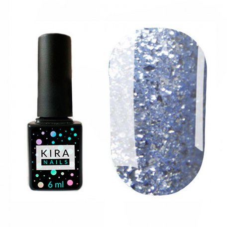 Гель-лаки Kira Nails Shine Bright 6 мл - Гель-лак Kira Nails Shine Bright №010 (голубой с блестками), 6 мл