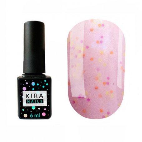 Гель-лаки Kira Nails Yoghurt Boom! 6 мл - Гель-лак Kira Nails Yoghurt Boom! №008 (малиновый крем с неоновыми блестками, йогурт), 6 мл