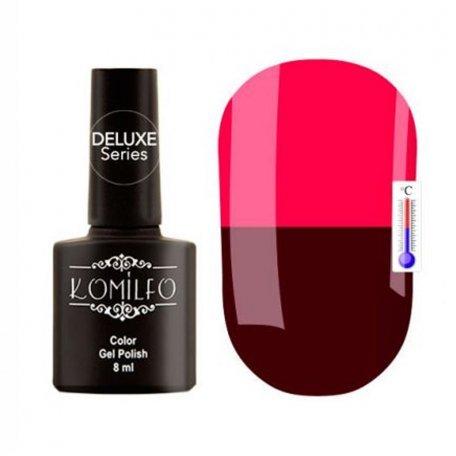 """Гель-лаки Komilfo """"Deluxe Termo"""" (Делюкс Термо) 8 мл - Гель-лак Komilfo DeLuxe Termo №C004 (темно-винный, при нагревании — темно-розовый), 8 мл"""