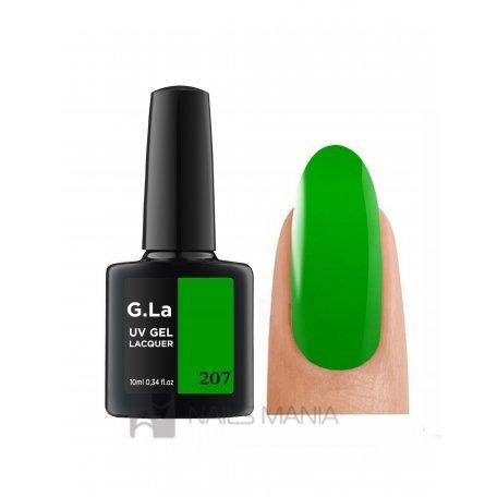 Гель лак G.La color UV GEL LACQUER 207 (Зеленый), 10 мл