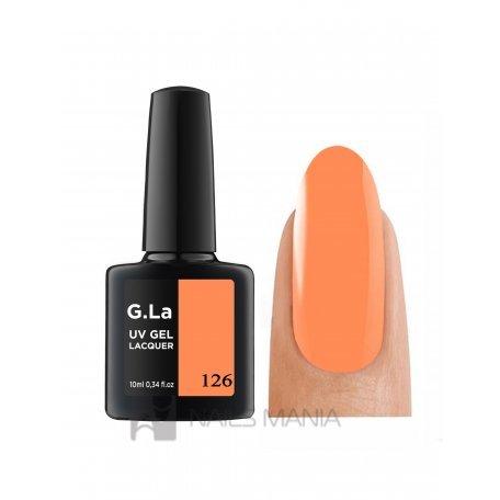 Гель-лак G.La color UV Gel Lacquer 126 (Оранжевый), 10 мл