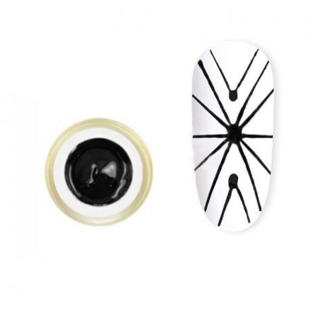 Гель-паутинка Canni Spider Gel / 3D Embossing gel - 01 черный 8 мл