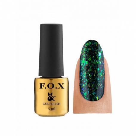 Купить Гель-лак F.O.X. Yuki Flakes Gold 002, 6 мл