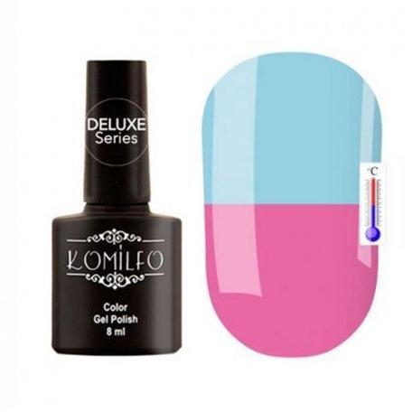 """Гель-лаки Komilfo """"Deluxe Termo"""" (Делюкс Термо) 8 мл - Гель-лак Komilfo DeLuxe Termo №C011 (приглушенный, сиренево-розовый. при нагревании — голубой), 8 мл"""