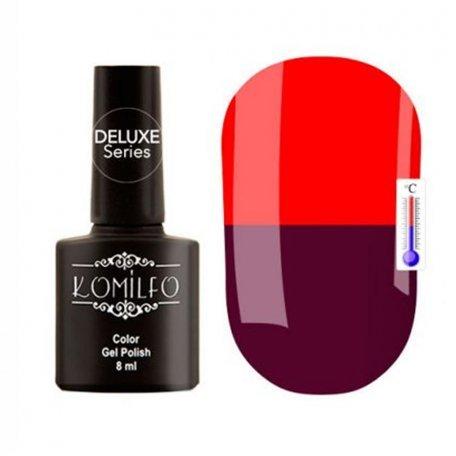 """Гель-лаки Komilfo """"Deluxe Termo"""" (Делюкс Термо) 8 мл - Гель-лак Komilfo DeLuxe Termo №C008 (фиолетовый, при нагревании — красный), 8 мл"""