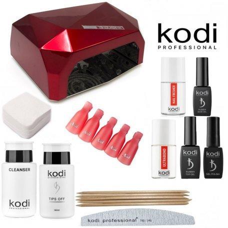 """Купить Стартовый набор гель-лаков Kodi """"премиум"""" (с LED-CCFL лампой 36 Вт)"""