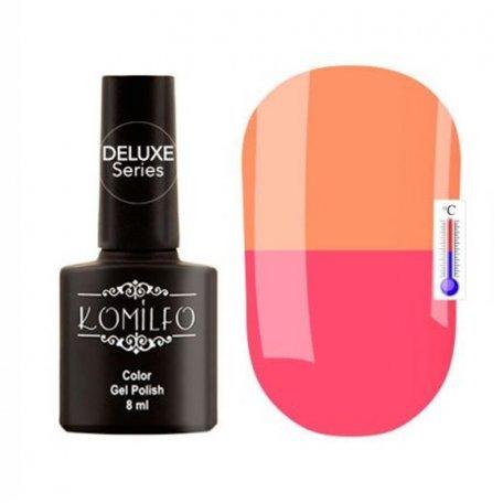 """Гель-лаки Komilfo """"Deluxe Termo"""" (Делюкс Термо) 8 мл - Гель-лак Komilfo DeLuxe Termo №C014 (приглушенный, чайный розовый, при нагревании — оранжевый), 8 мл"""