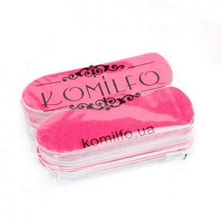 Сменные одноразовые абразивы Komilfo 50 шт. для педикюрной терки, 180 грит (розовые)