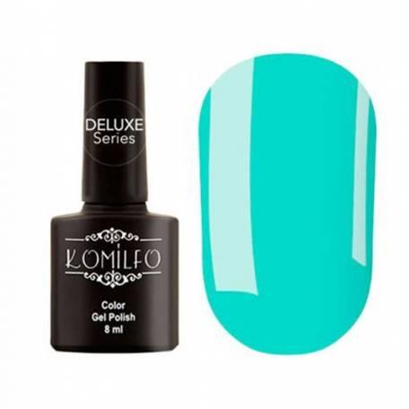 Купити Гель-лак Komilfo Deluxe Series №D147 (блакитно-бірюзовий, емаль), 8 мл