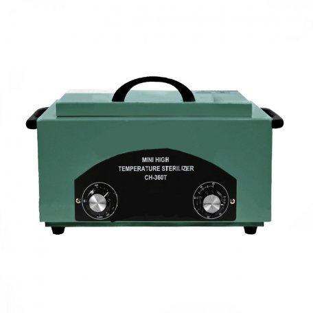 Стерилизатор сухожаровой шкаф CH-360T для косметологических инструментов, темно-зеленый