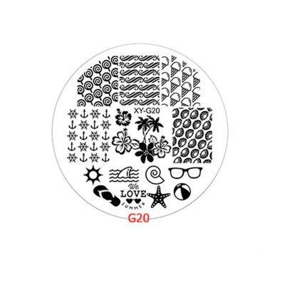 Пластина для стемпинга круглая YRE XY-G20, пластик