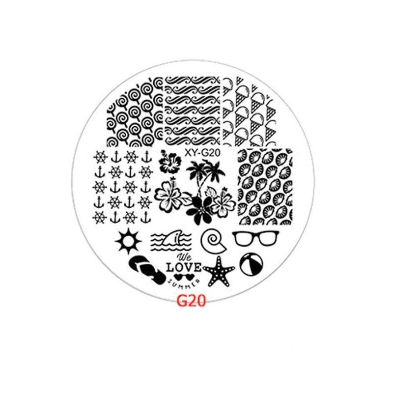 Диск для стемпинга Y.R.E XY-G20, пластик