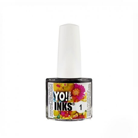Чернила Yo nails Inks 1, цвет красный, 5 мл