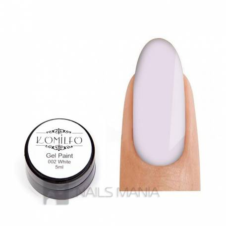 Купить Гель-краска Komilfo №002 White (белый), 5 мл
