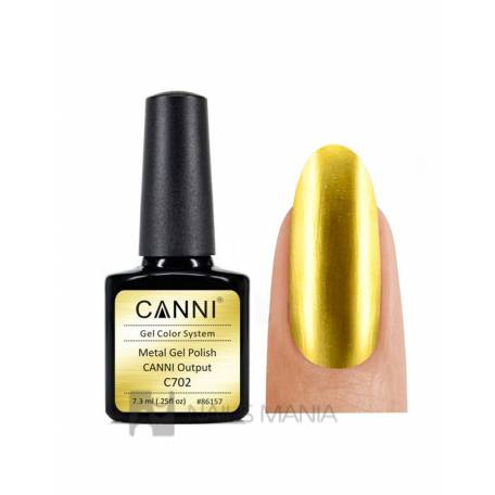 Купить Гель-лак зеркальный CANNI №702 золото 7.3 мл.