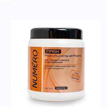 Маски для волос - Маска Brelil Professional для восстановления структуры волос с экстрактом овса 1000 мл