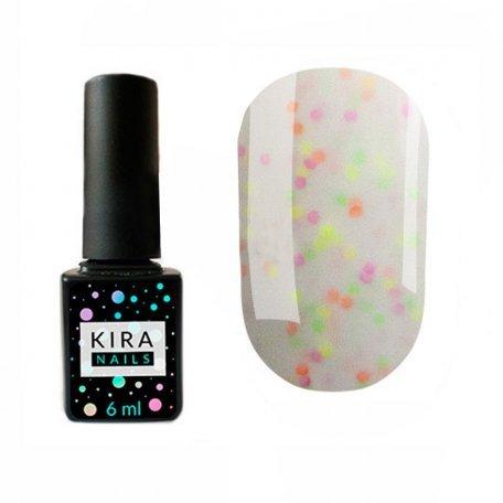Гель-лаки Kira Nails Yoghurt Boom! 6 мл - Гель-лак Kira Nails Yogurt Boom! №001 (помадка ванильная с неоновыми блестками, йогурт), 6 мл